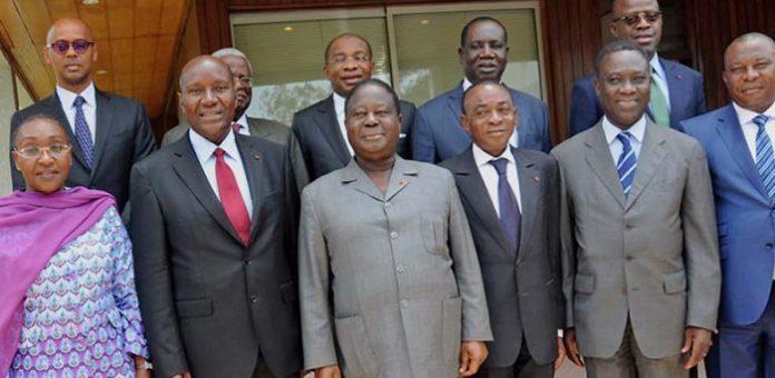 Henri Konan Bédié et les ministres et présidents d'institution PDCI