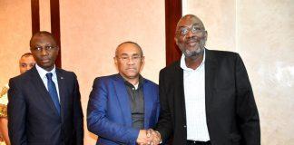 Sidy Diallo, président de la FIF et le président de la CAF