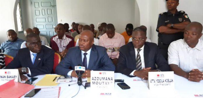 Azouma Moutayé était entouré de ses principaux collaborateurs