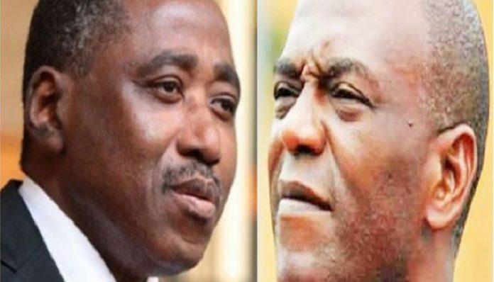 Le premier ministre Amadou Gon Coulibaly et Mamadou Koulibaly
