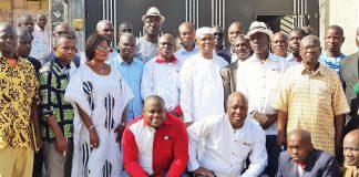 Les délégués régionaux et communaux du MFA, autour d'Azoumana Moutayé
