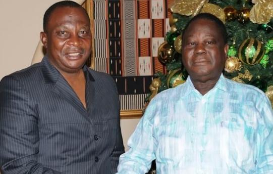 Kobenan Kouassi Adjoumani et Henri Konan Bédié