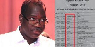 Brahima Soro se dit ahuri par le rattrapage à l'ENS