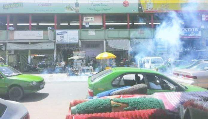 Affrontements élèves policiers ce mardi 15 mai 2018 à Koumassi (Abidjan)