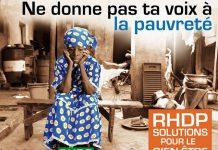 """""""Ne donne pas ta voix à la pauvreté"""" : affiche de campagne du candidat Alassane Ouattara, en 2010"""