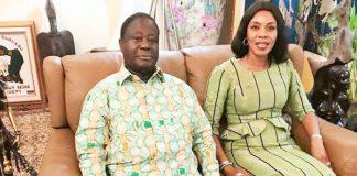 Affoussiata Bamba-Lamine et Henri Konan Bédié à Daoukro