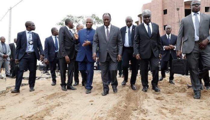 Alassane Ouattara a rendu visite à des familles sinistrées ce jeudi 21 juin 2018