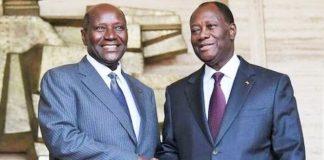 Alassane Ouattara et Daniel Kablan Duncan