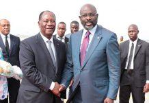 Alassane Ouattara et Georges Weah