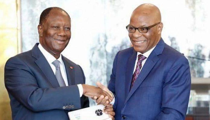 Alassane Ouattara et Raphaël Lakpé