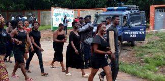Des jeunes filles de Bangolo ont marché ce lundi 25 juin 2018