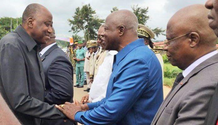 Amadou Gon Coulibaly et Bertin Kadet