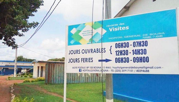L'hôpital général de Bouna est en ruine