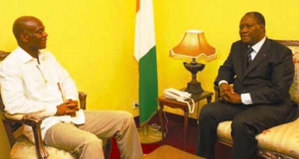 Mamadou Koulibaly et Alassane Ouattara