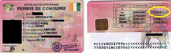 Permis B en Côte d'Ivoire