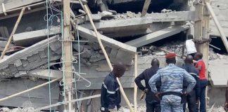 Effondrement d'un immeuble à Yamoussoukro