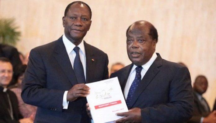 Le président Alassane Ouattara avait refusé de faire publier le rapport complet de la CDVR de Charles Konan Banny, avant d'autoriser une publication partielle, deux ans plus tard
