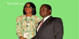 Henri Konan Bédié et sa directrice de la communication Djénébou Zongo-Diomandé