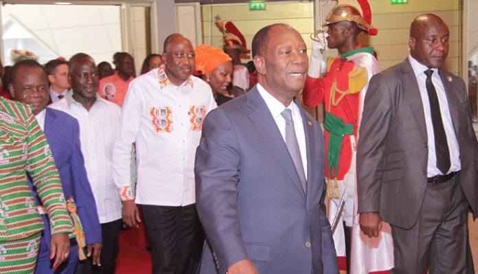 Alassane Ouattara à l'AG constitutive du RHDP unifié