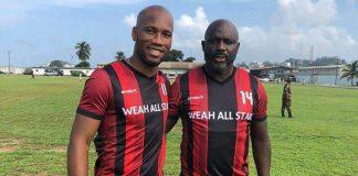 Didier Drogba et George Weah le samedi 28 juillet 2018