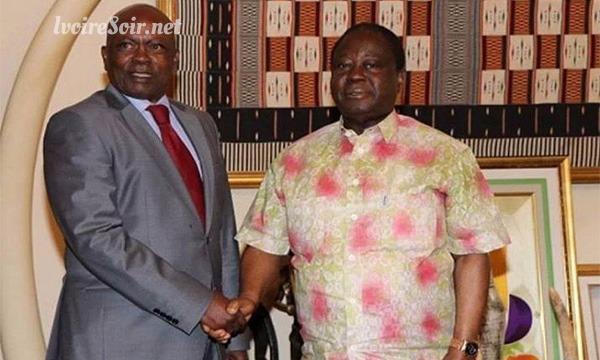 rencontre Innocent Anaky Kobenan et Henri Konan Bédié, le 25 juillet 2018 à Daoukro