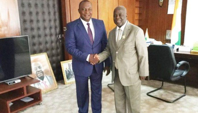 Kobenan Kouassi Adjoumani et Séraphin Boni