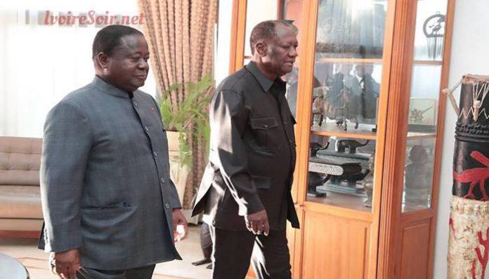 Henri Konan Bédié et Alassane Ouattara se sont rencontrés ce mercredi 8 août 2018