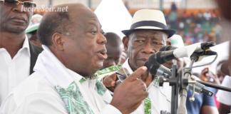 Charles Konan Banny au meeting du PDCI à Gagnoa le samedi 18 août 2018