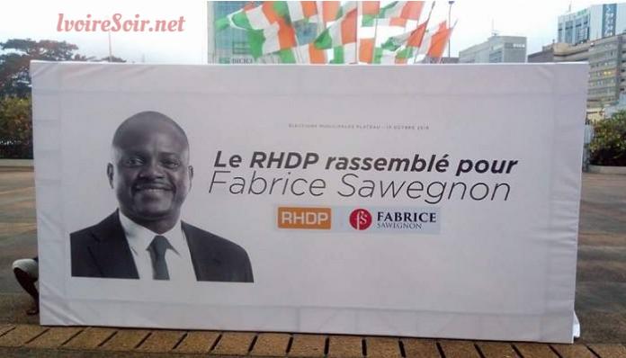 Fabrice Sawegnon candidat RHDP Plateau