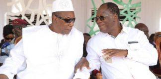 Alpha Condé et Alassane Ouattara