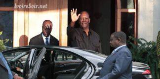 Alassane Ouattara disant pour la dernière fois aurevoir à Henri Konan Bédié, le 8 août 2018