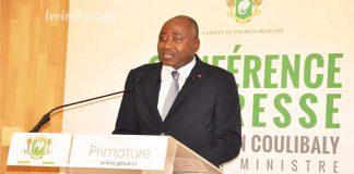 Amadou Gon Coulibaly en conférence de presse le lundi 17 septembre 2018
