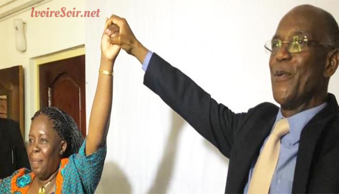 Mamadou Koulibaly et la présidente de Lider