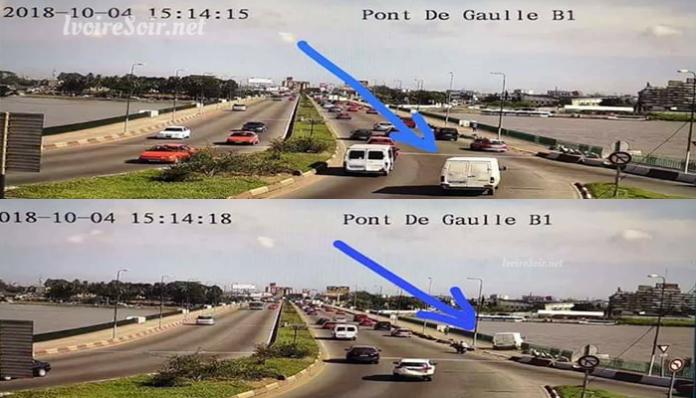 Accident Gbaka sur le pont Degaulle