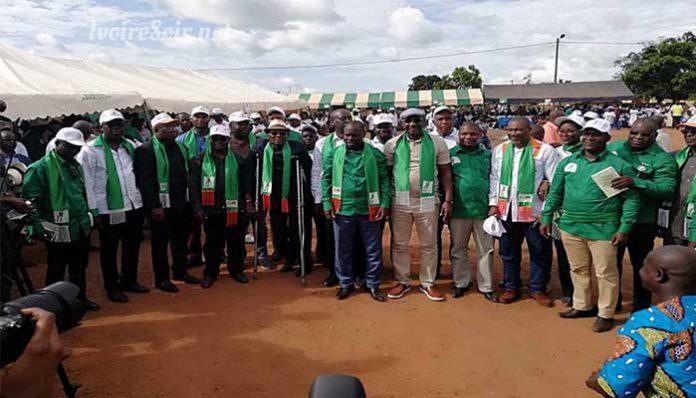 Lancement de la campagne de Jérôme Kouamé à Attiégouakro