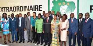Personnalités autour de Bédié lors du 6ème congrès extraordinaire à Daoukro