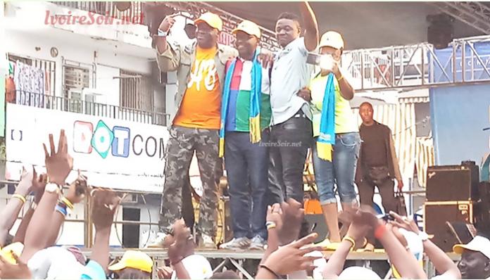 Touré Souleymane en compagnie d'Hamed Ouattara et d'Arouna Dindané