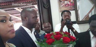Jacques Ehouo à l'église après son élection