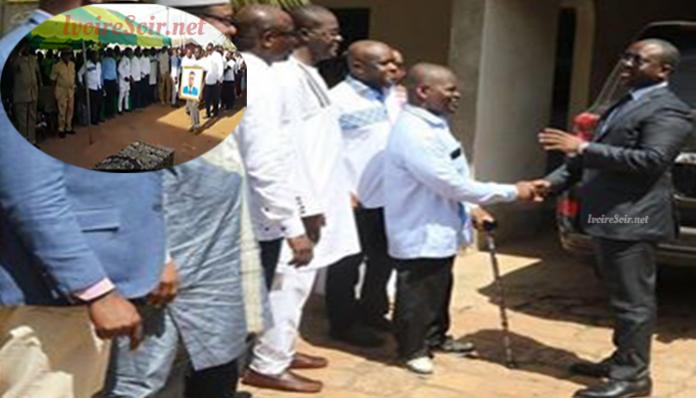Guillaume Soro aux obsèques de Kognon Soro, ce vendredi 9 novembre 2018, à Korhogo