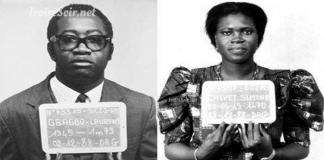 Laurent et Simone Gbagbo après leur arrestation en février 1992 à Abidjan