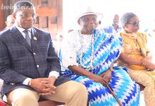 Le député Alexandre Atto Attébi et le doyen N'Koumo Mobio au Festagni 2018