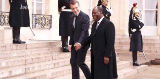 Alassane Ouattara avec Emmanuel Macron ce lundi 12 novembre 2018 à l'Elysée