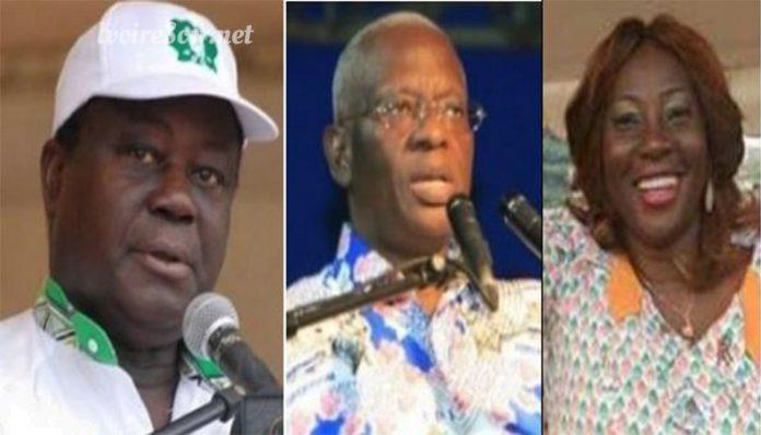 Henri Konan Bédié, Aboidramane Sangaré et Kandia Camara