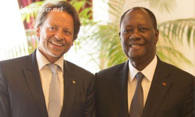 Jobst Von Kirchmann et Alassane Ouattara