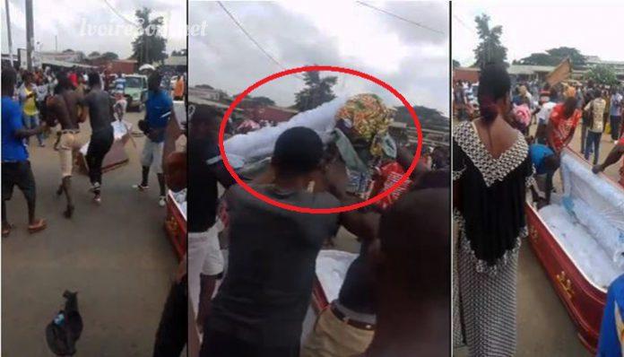 Le corps de Ama Kalo Mireille Kra a été sorti du cercueil