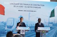 Emmanuel Macron et Alassane Ouattara le 30 novembre 2018 à Abidjan