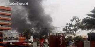 Incendie à Prima Center Marcory