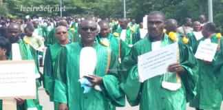 Marche verte des enseignants-chercheurs de l'université de Cocody, le 21 février 2019