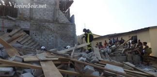 Effondrement de l'immeuble au carrefour de la Riviera Saint-Viateur ayant occasionné un mort ce mercredi 27 mars 2019