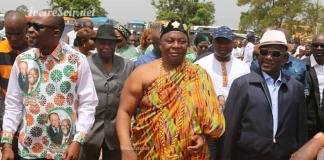 Le ministre Kobenan Kouassi Adjoumani à Bouaké, le samedi 23 mars 2019